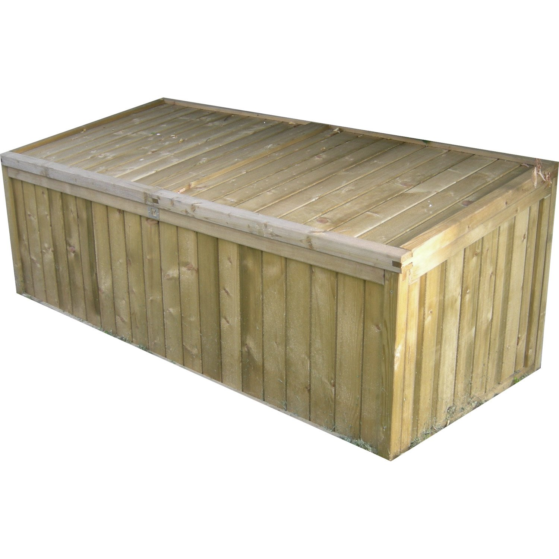 coffre rangement jardin bois