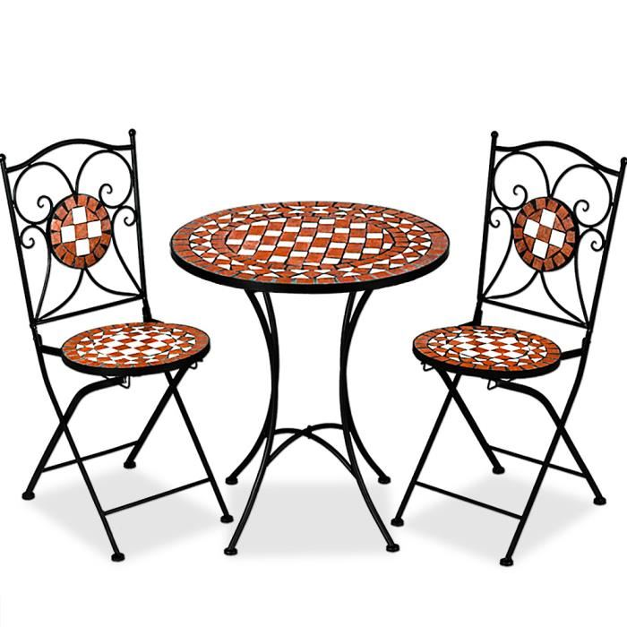 salon de jardin 1 table 2 chaises