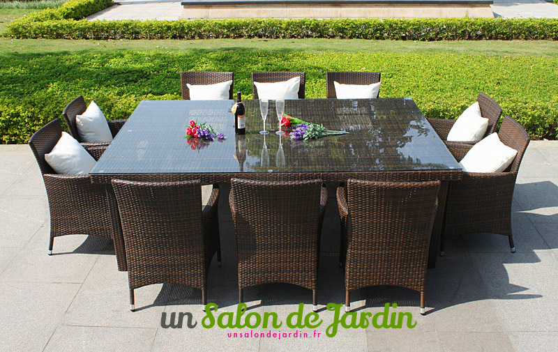salon de jardin 10 places en solde