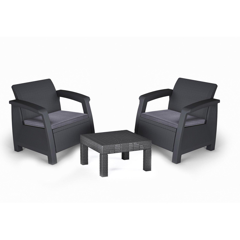 salon de jardin 2 fauteuils