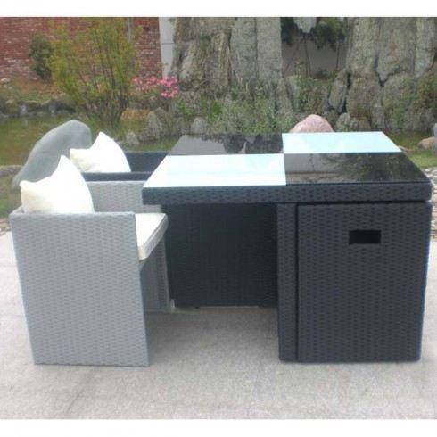 salon de jardin 4 fauteuils encastrables
