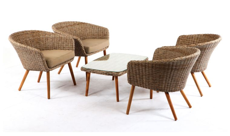 salon de jardin 4 fauteuils