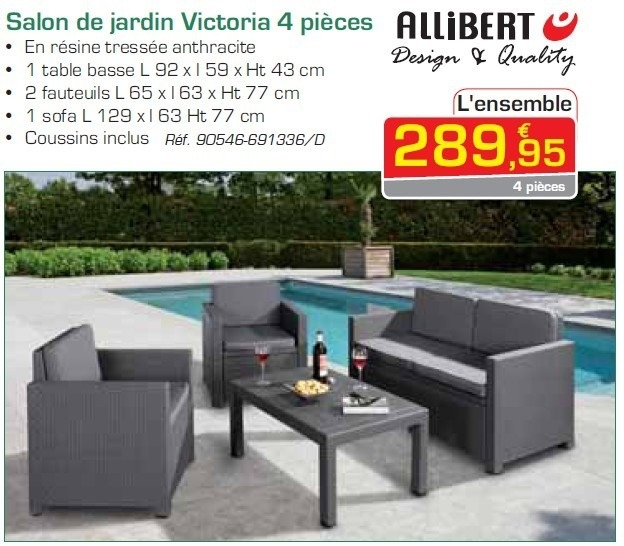 salon de jardin 4 pieces hawai allibert