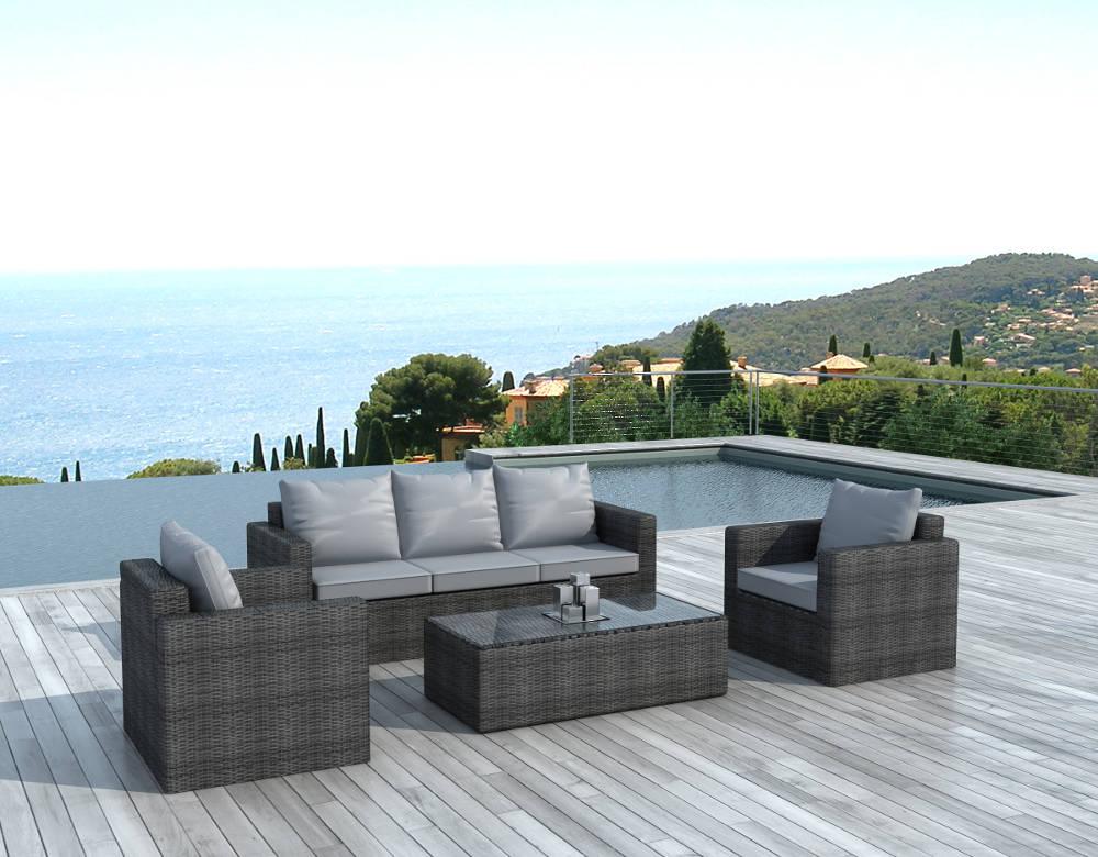 Beautiful Salon Jardin Rotin Gris Photos - House Design ...