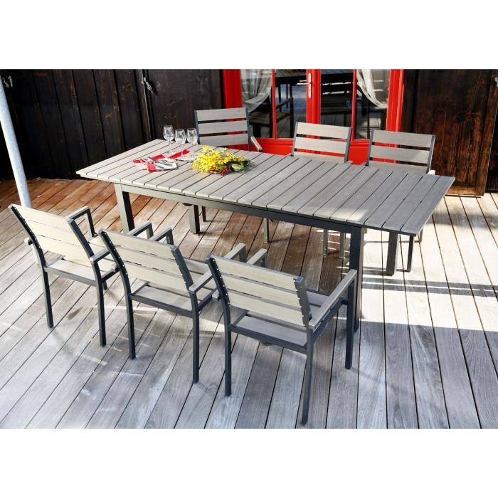 salon de jardin 6 places aluminium