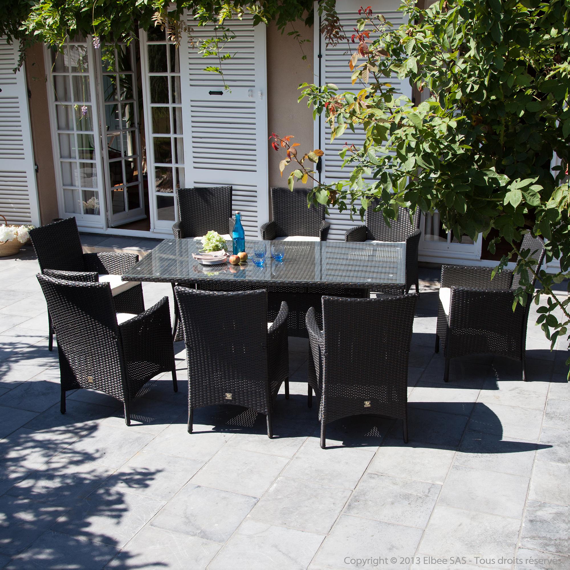 Emejing Salon De Jardin En Resine Table Ovale Photos - House Design ...