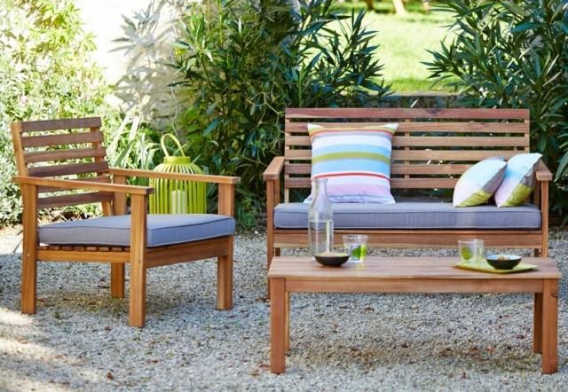 salon de jardin acacia