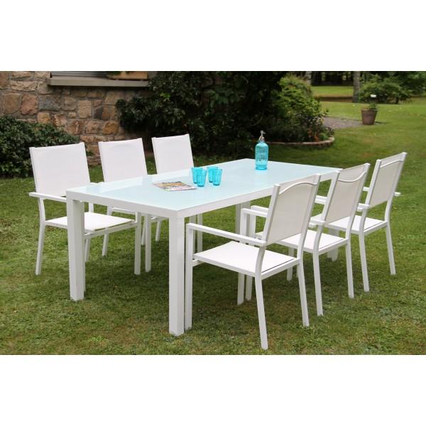 Emejing Table De Jardin Aluminium Blanche Ideas - House ...