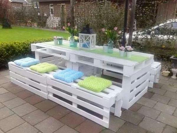 salon de jardin avec palette