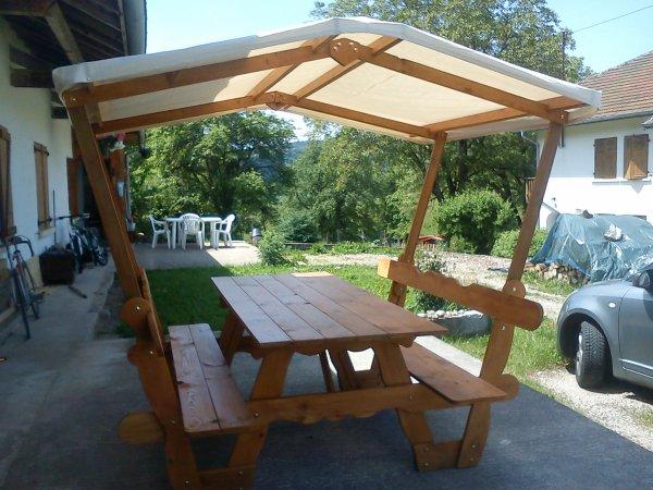 salon de jardin avec un toit