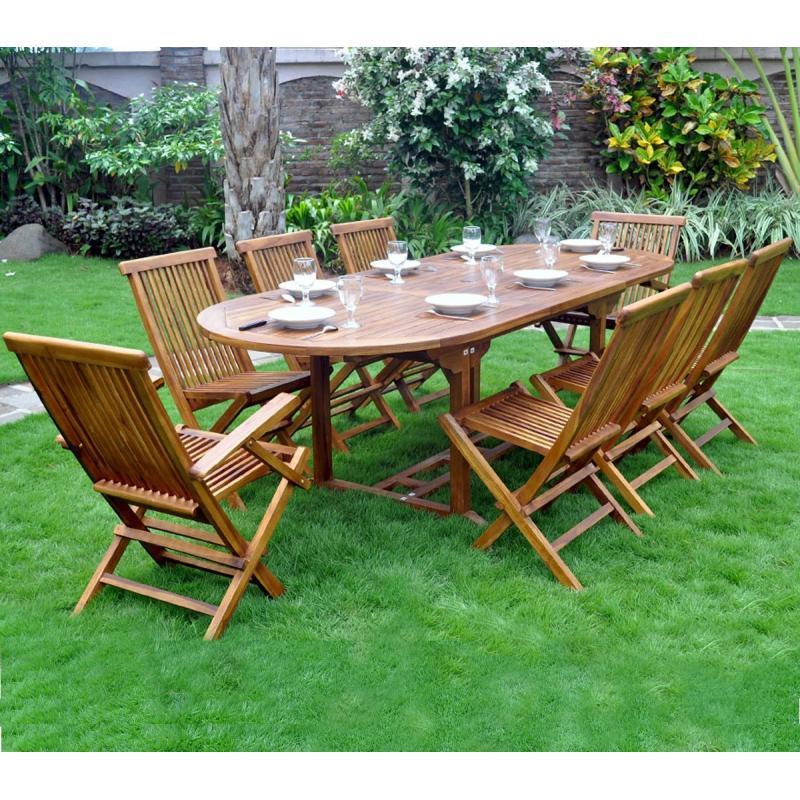 salon de jardin en teck yfone wood