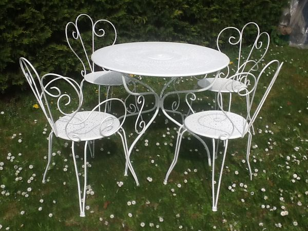 Beautiful Table Jardin Ancienne Fer Forge Contemporary ...