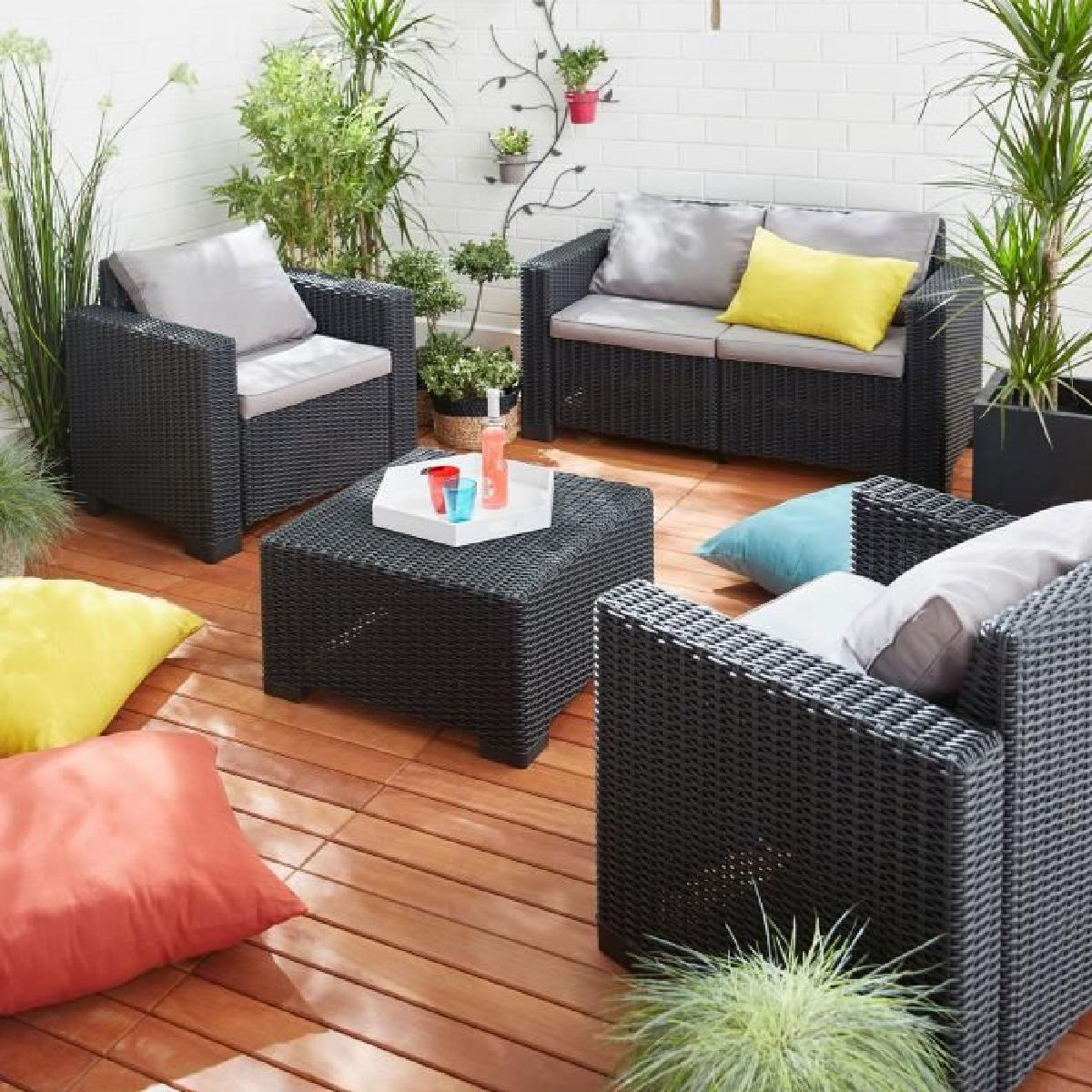 salon de jardin hawai - allibert