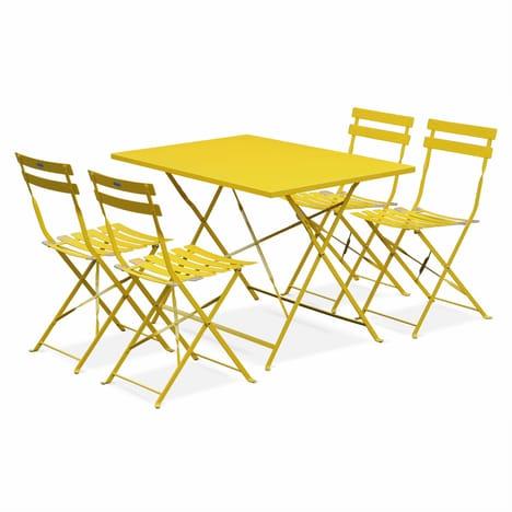 salon de jardin jaune