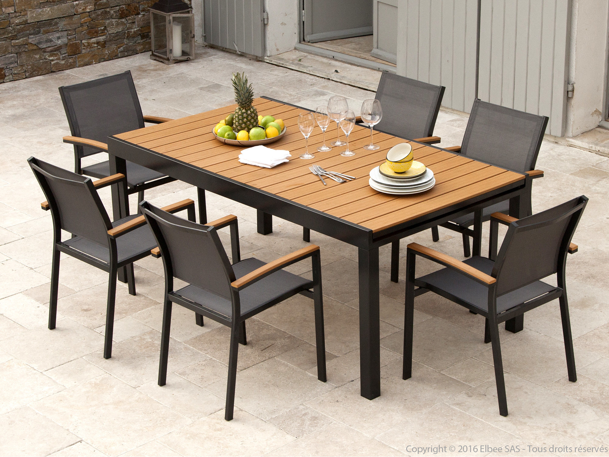 Emejing Table De Jardin Extensible Marino Images - House ...