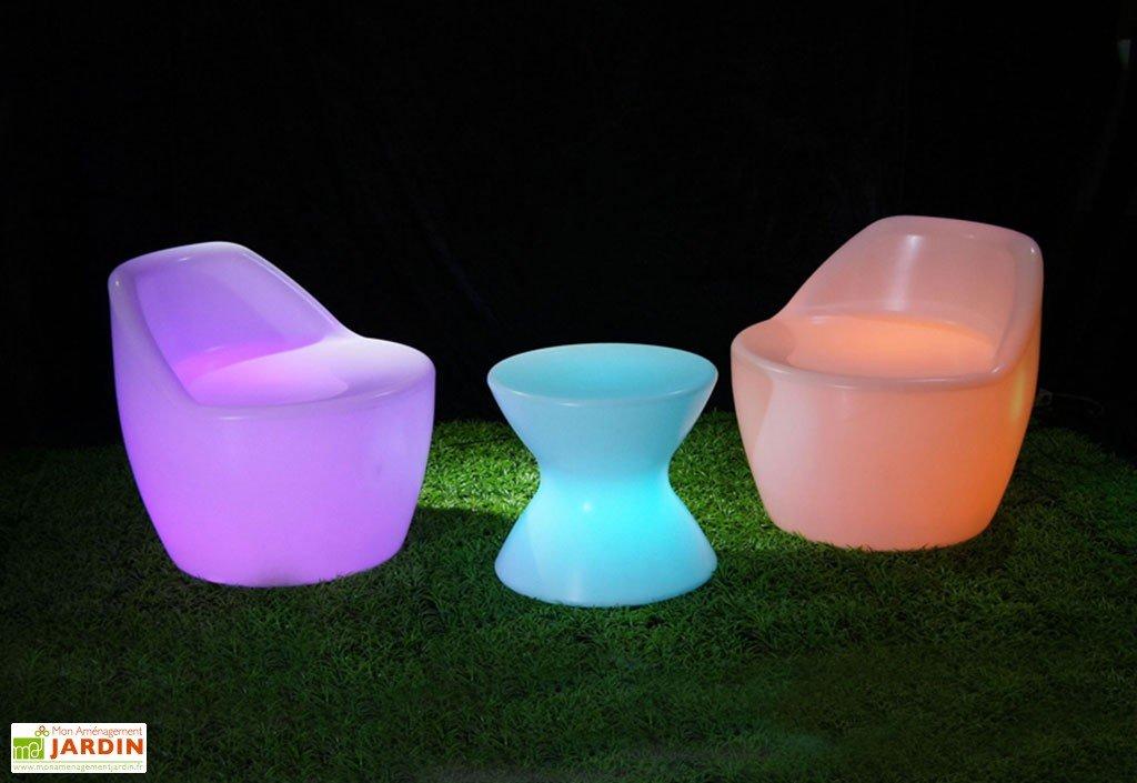 salon de jardin lumineux