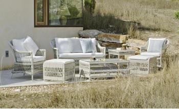 salon de jardin osier blanc