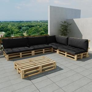 salon de jardin palette en bois