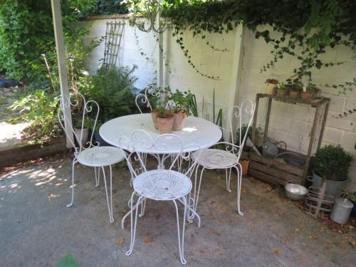 salon de jardin romantique