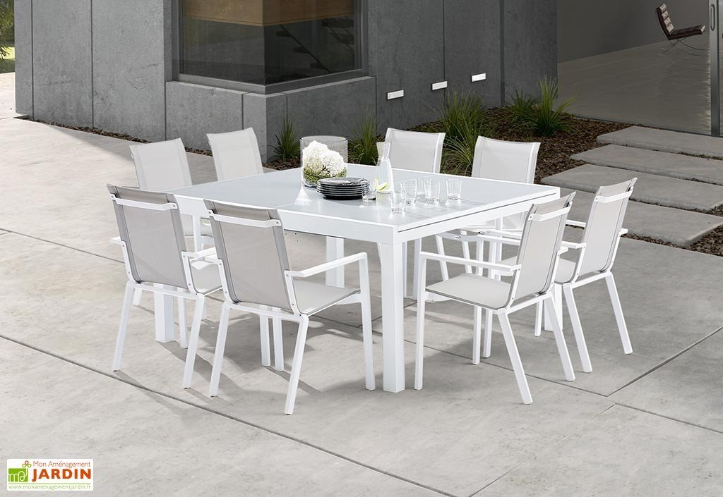 salon de jardin table carree