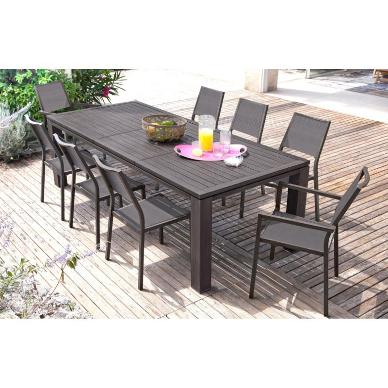 salon de jardin table extensible