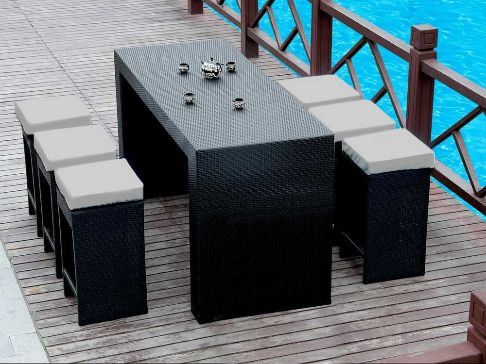 Salon de jardin table bar - Maison mobilier et design