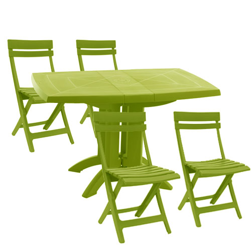 Emejing Petite Table De Jardin Verte Contemporary - House ...