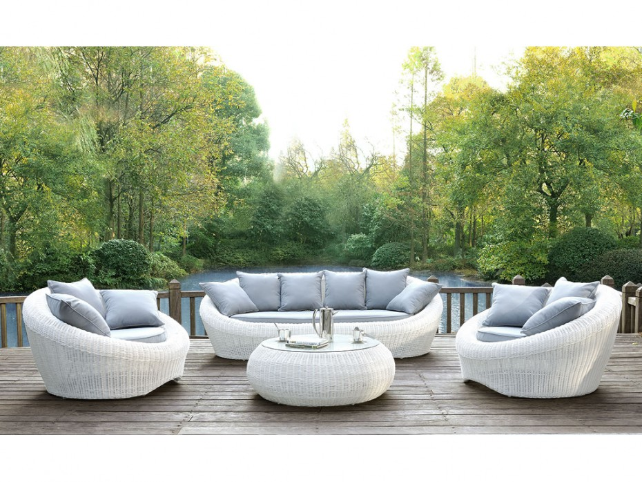 Best Table De Jardin Rotin Blanc Contemporary - House Design ...