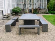 salon de jardin zinc
