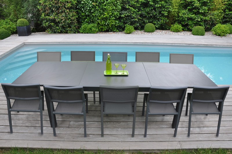 table de jardin 10 personnes pas cher