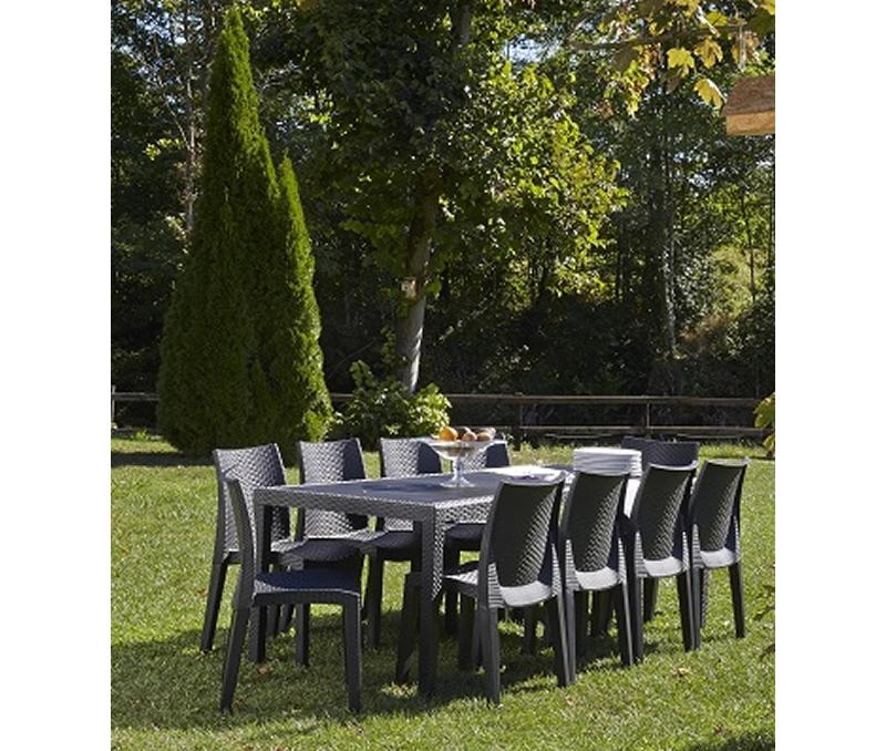 table de jardin 10 personnes plastique