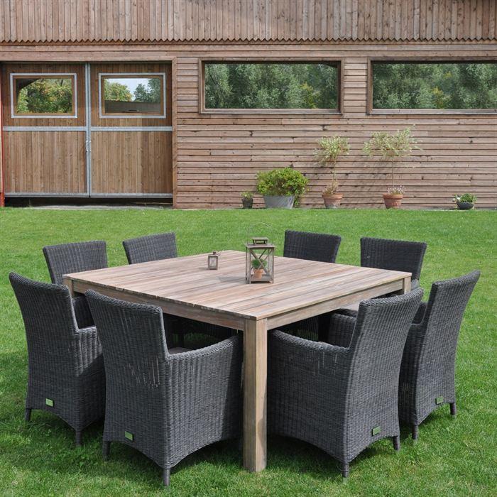 table de jardin 150 x 150