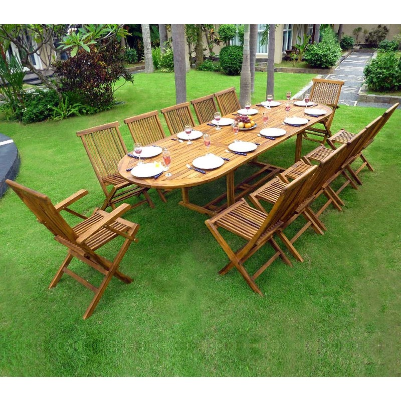 table de jardin 2 rallonges