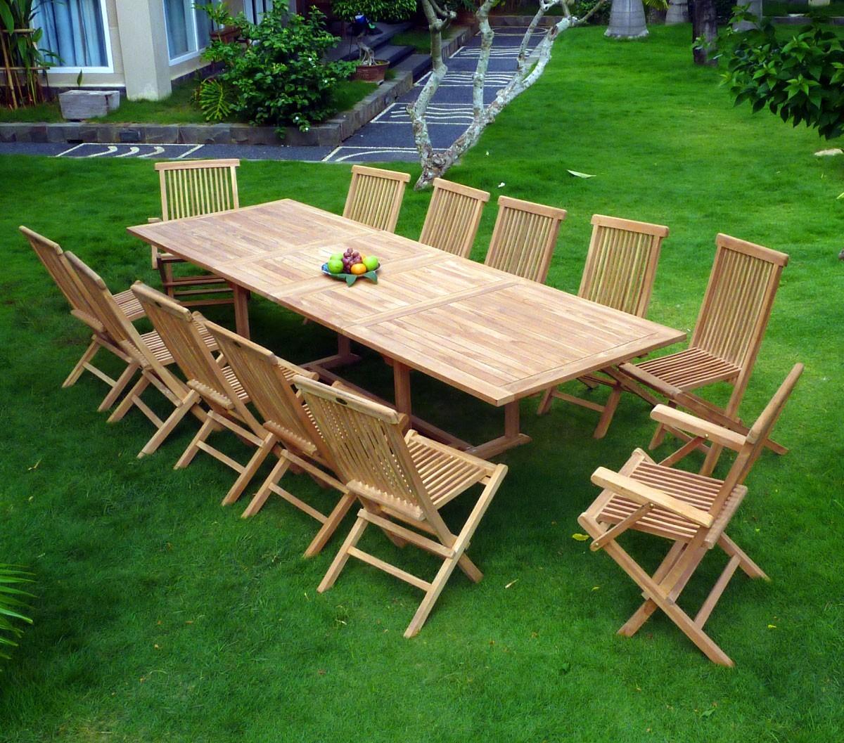 table de jardin 3 metres