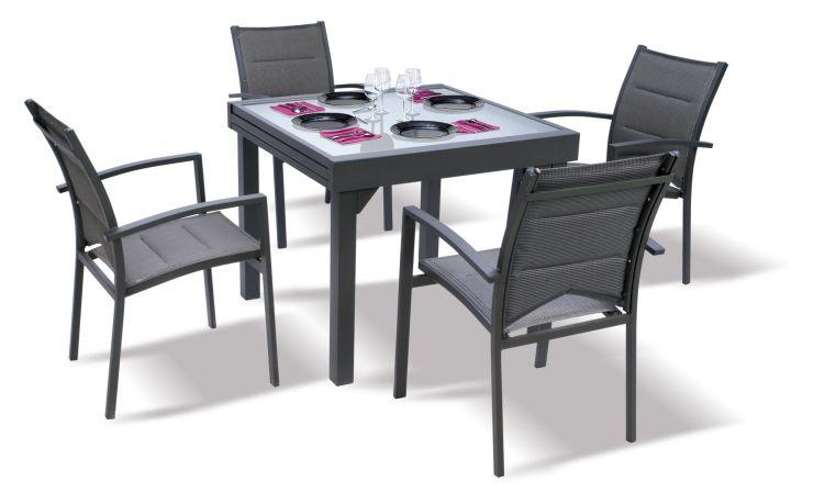 table de jardin 4 personnes avec rallonge