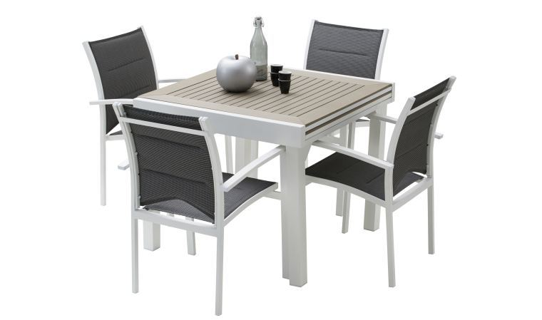 table de jardin 4 places extensible