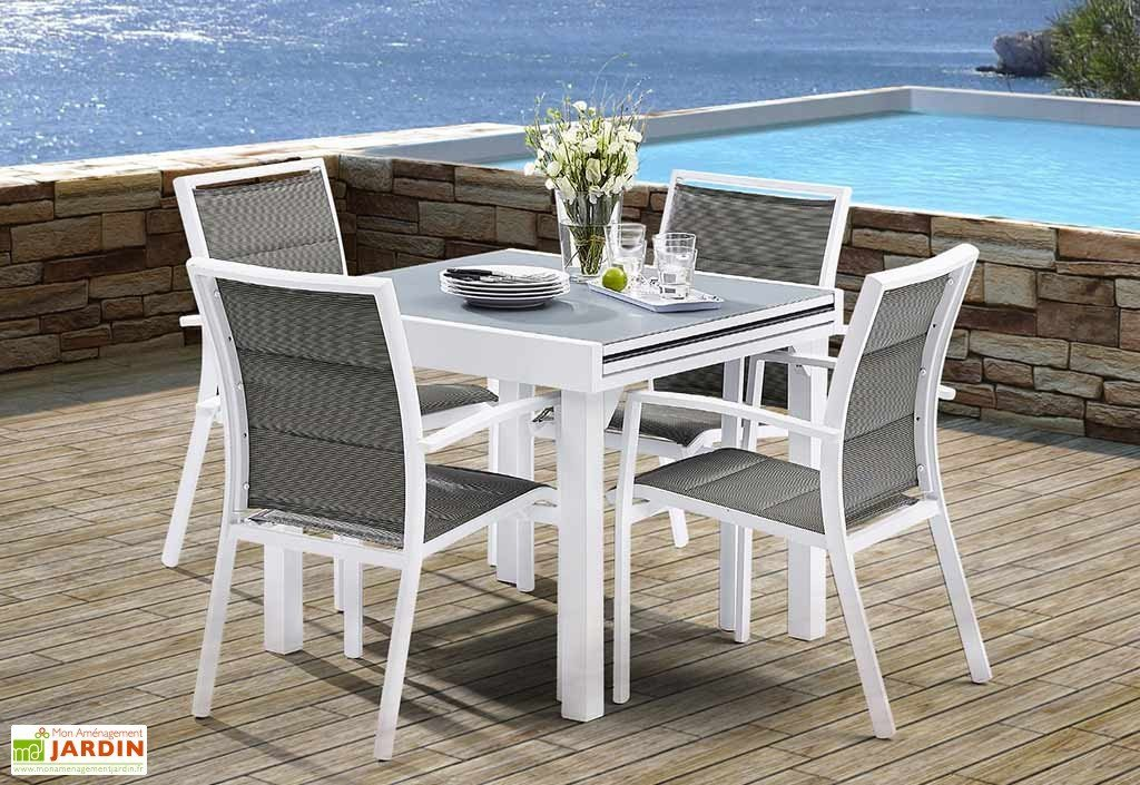 table de jardin 4 personnes extensible