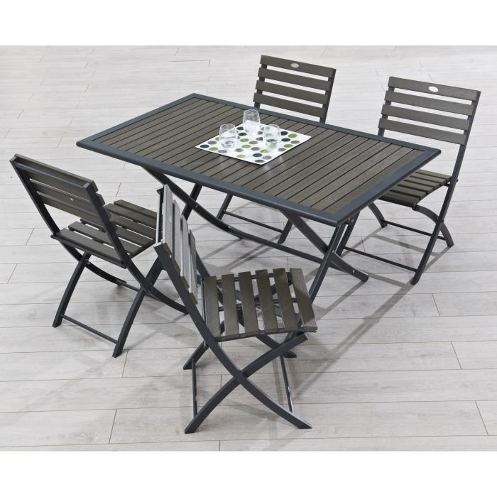 table de jardin 4 places pas cher