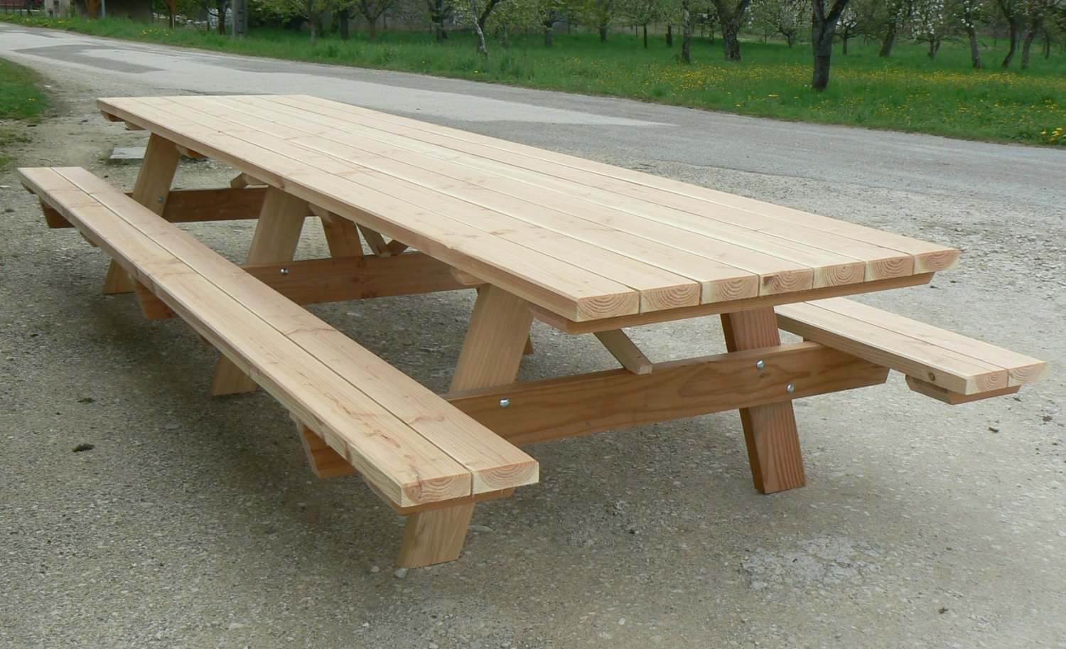 table de jardin 4m