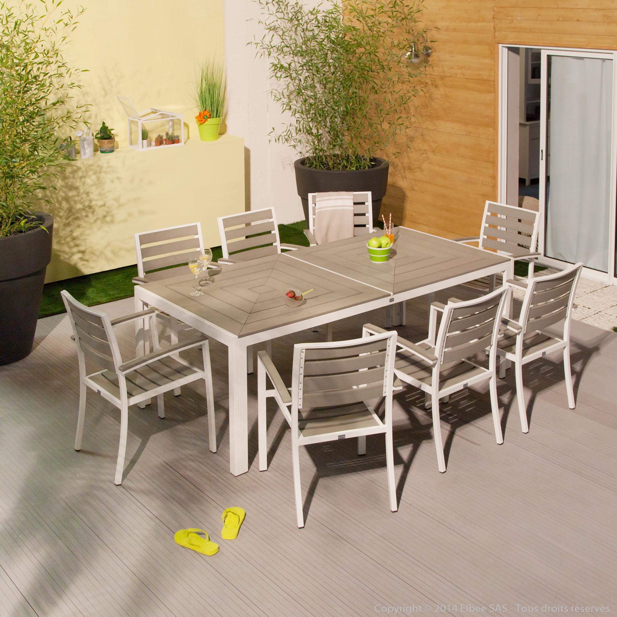 Beautiful Salon De Jardin Harmony Coloris Blanc Photos ...