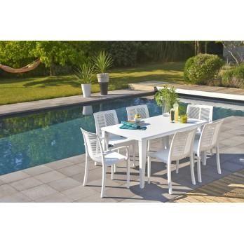 table de jardin 6 couverts