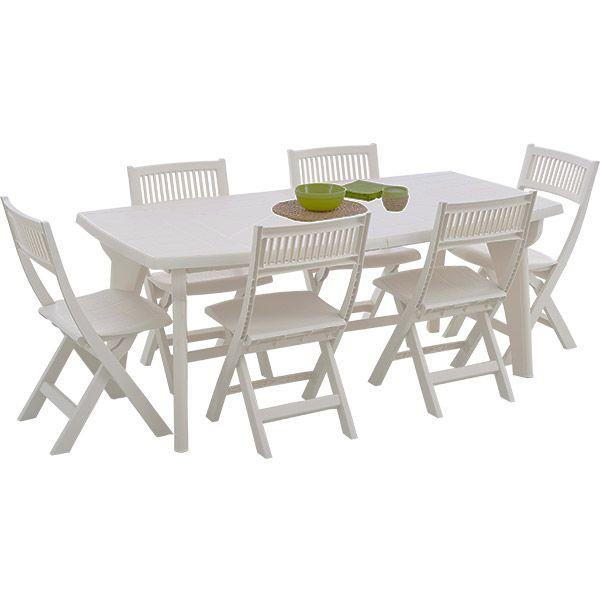 table de jardin 6 personnes en plastique