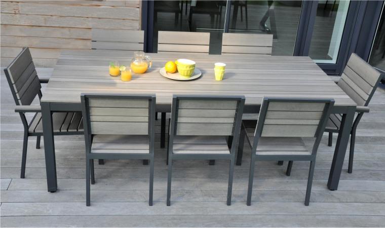 table de jardin 8 personnes pas cher