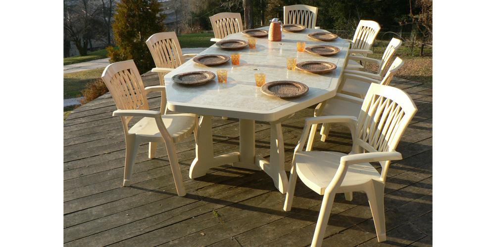table de jardin mosaique intermarche