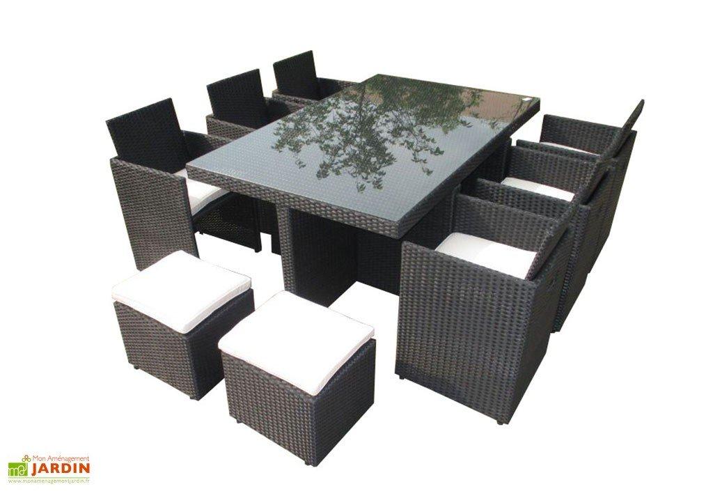 table de jardin 9 pieces