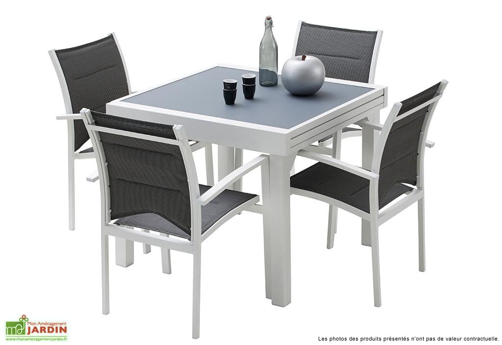 table de jardin 90x90 avec rallonge