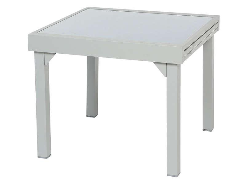 table de jardin 90x90 extensible