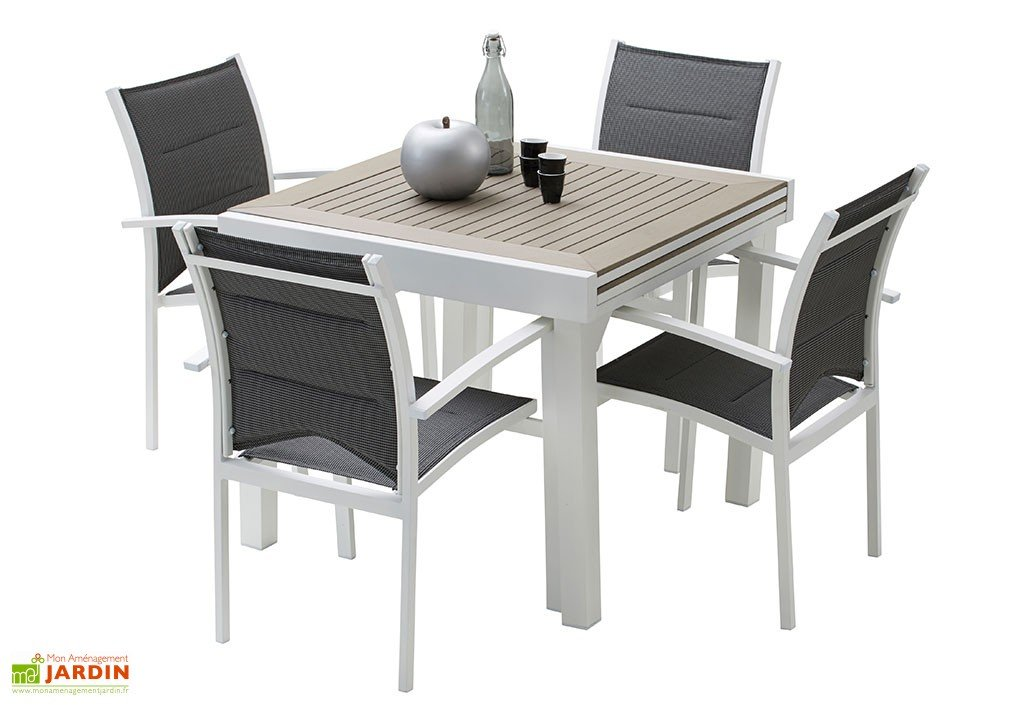 table de jardin 90x90 extensible