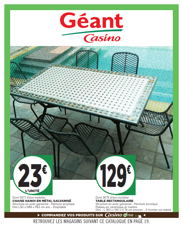 Table de jardin finlandek geant casino | Optimisatrice
