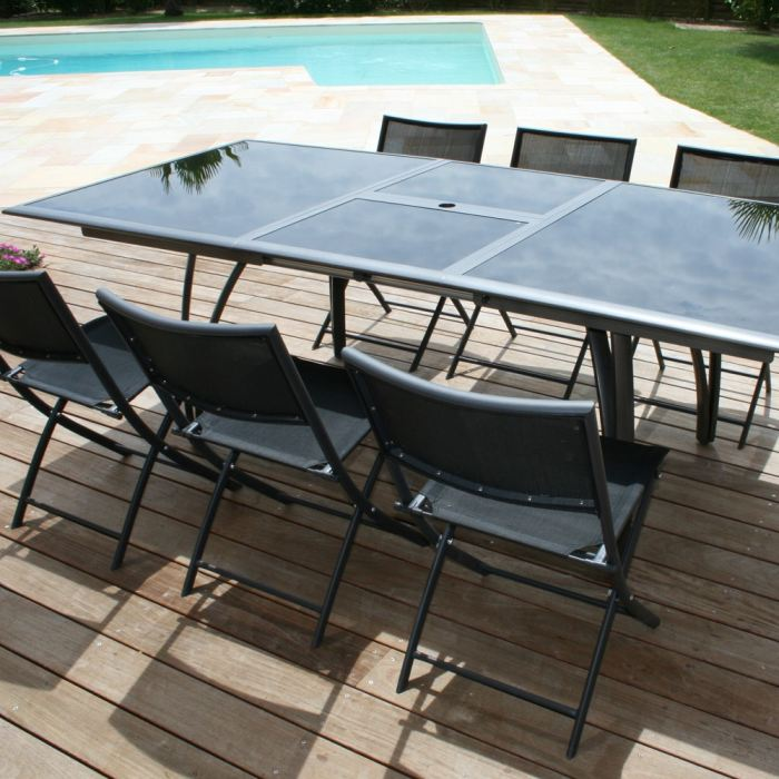 table de jardin a rallonge papillon